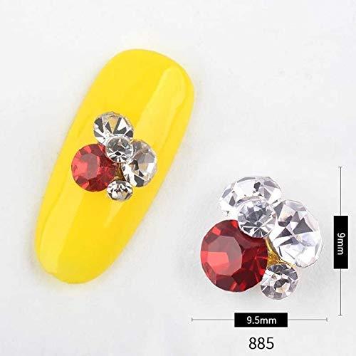 (Nail Art Supplies - 5PCS Mixed Colors AB Crystal Nail Rhinestones Chameleon Glass Stone Gems Fashion Design DIY Nails Decorations Manicure Tools Nail Rhinestones And Charms - Shaped 85)
