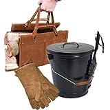 Panacea Ash Bucket, Log Tote, and Gloves Kit