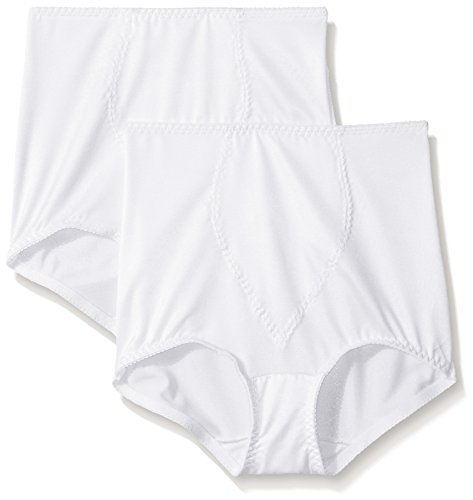 Moderate Panties Brief Control (Hanes Women's Moderate Control with Tummy Panel Brief, XL-White 2 Pack)