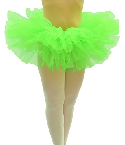 [Dancina Runner's Organza Poofy Tutu Skirt 5 Layer Short 10