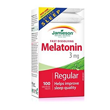 Jamieson Melatonin 3 mg. 100 Tablets - helps Improve Sleep Quality