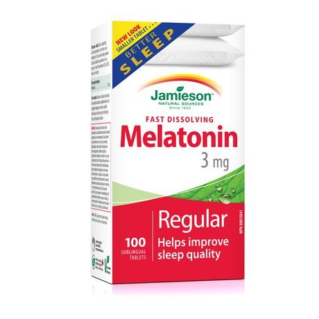 Amazon.com: Jamieson Melatonin 3 mg. 100 Tablets - helps Improve Sleep Quality: Health & Personal Care