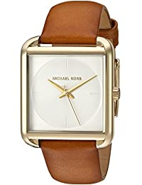 Michael Kors Women's Quartz Stainless Steel and Leather Automatic Watch, Color:Brown (Model: MK2584)
