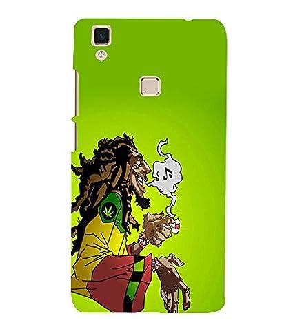 Printtech Bob Marley Weed Smoke Cartoon Back Case Cover Amazonin