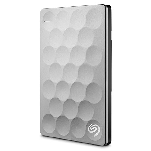 Seagate Backup Plus Ultra Slim 2TB, platin, externe tragbare Festplatte USB 3.0; inkl. Backup-Software, USB 3.0, PC + MAC + PS4 (STEH2000200)