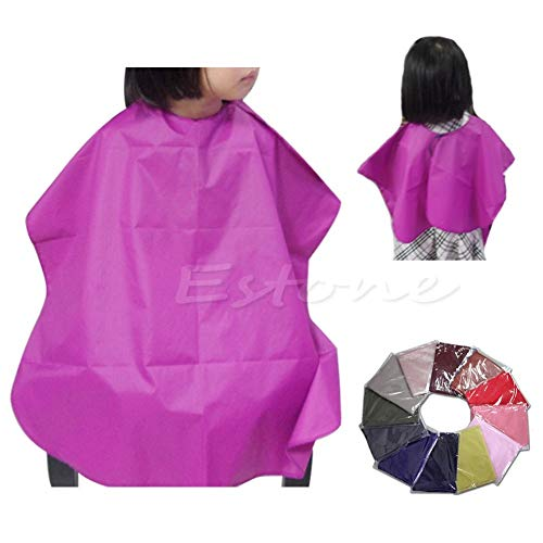 Aprons - Child Salon Barbers Cutting Hair Cape Cloth Cover Gown Hairdresser Hairdressing - Hair Haircut Girl Cloth Thong Wall Cover Cuff Barber Fast Pressure Paper Cockcon Skull Beard ()