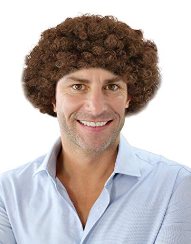 70s Short Brown Afro Disco Wig Wig Richard Simmons Costume Wig Disco Wig for Men -