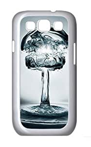 3D Water Custom Hard Back Case Samsung Galaxy S3 SIII I9300 Case Cover - Polycarbonate - White