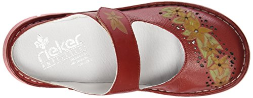 Rieker L0892 Women Clogs - Zuecos Mujer Rojo - Rot (red/red / 33)
