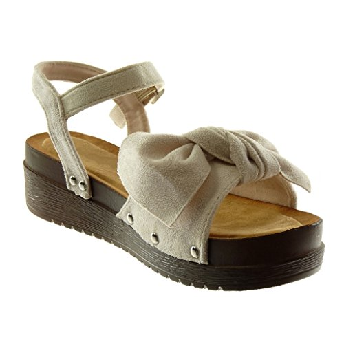 Angkorly Damen Sandalen Plateauschuhe Mule Schuhe CBoWQredx