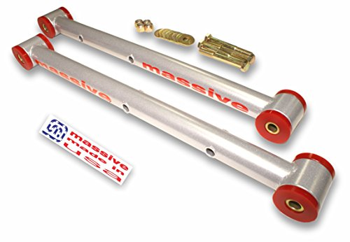6 COLOR Choices- Made in USA- SILVER- COMPETITION SERIES- Lower Control Arms LCA 64-72 GM A-Body Skylark Chevelle El Camino Monte Carlo Cutlass 442 Le Mans GTO- SWAY BAR HOOKUP ()