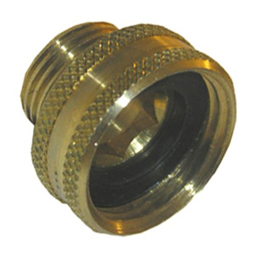 LASCO 15-1701 3/4-Inch Female Garden Hose by 1/2-Inch Male Pipe Thread Brass Adapter