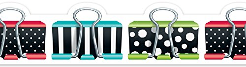 Creative Teaching Press  Bold & Bright Binder Clips Border (8348)