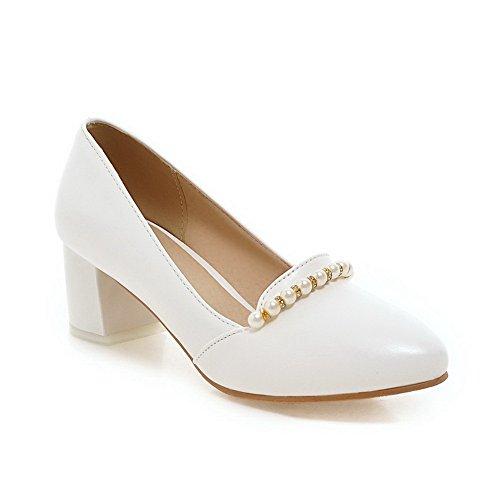 AdeeSu Sdc03745, Sandales Compensées Femme - Blanc - Blanc, 36.5 EU
