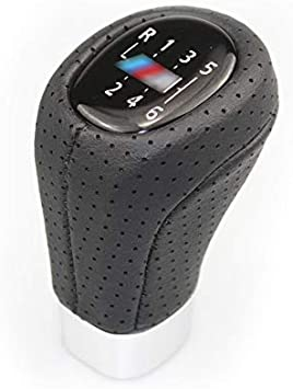 Color : M Logo 6speed TZZD Manuell Auto Schaltknauf for BMW 1 3 5er E36 E39 E46 E53 E60 E82 E83 E87 E90 E91 E92 5 6 Gang-Schaltung Lever-Stick