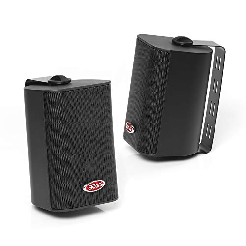 Boss Audio Systems MR4.3B 200 Watt Per Pair, 4 Inch, Full Range, 3 Way Weatherproof Marine Speakers...