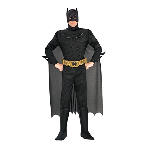 [Batman The Dark Knight Rises Adult Batman Costume, Black, Large] (Black Men Halloween Costume)