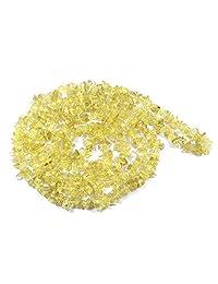 Reiki Crystal Products Natural Stone Lemon Quartz Chip Mala - Necklace Crystal Chip Mala Reiki Mala for Reiki Healing and Crystal Healing Stones (Length 26 Inch)