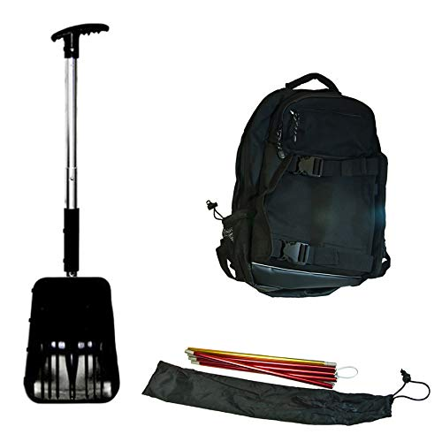 SPI Off-Trail Snowmobile Kit - Back Pack - Avalanche Probe - Shovel - Saw (Best Avalanche Backpack For Snowmobiling)