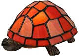 Meyda Tiffany 10271 Turtle Tiffany Glass Accent Lamp, 4'' H