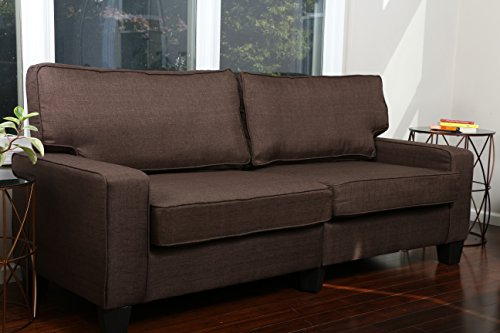 Home Life 3 Person Full Size Contemporary Pocket Coil Hardwood Sofa 282 78