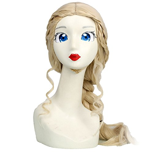 [Daenerys Targaryen Wig Cosplay Yellow High Temperature Silk Hair TV GOT season 7 Costume Accessories Honor] (Daenerys Costumes Game Of Thrones)