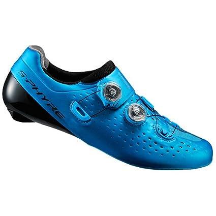 SHIMANO Zapatillas de Carretera RC9 SH-RC900SW Azul Talla 41.5 sin Calcetines (Zapatos de