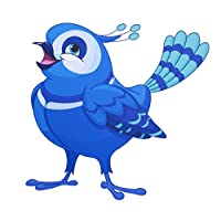 StikArt Bonnie the Bluebird Peel and Stick Wall Decal - 11-inches by 11-inche...