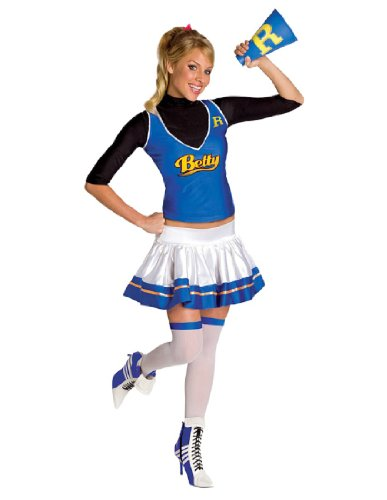 [Secret Wishes  Womens Betty Costume, Blue/White, Small] (Betty Archie Comics Halloween Costume)
