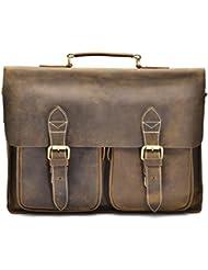Hølssen Satchel Briefcase Messenger 16 Laptop Genuine Leather Bag