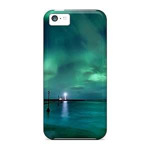 linJUN FENGBrand New 5c Defender Case For Iphone (aurora Borealis)