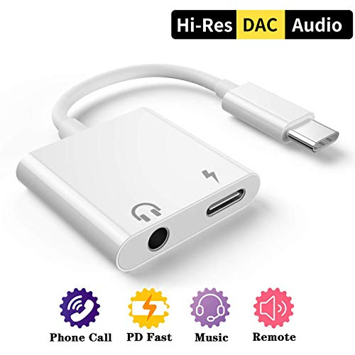 Dafanbe USB C Headphone Adapter Type C to 3.5mm Audio Adapter Headphone Jack Aux Audio Cable Compatible with Galaxy Note10 +/Samsung s9/Google Pixel 2/ 2XL/3/3XL, Huawei Mate10 Pro/P20, and More