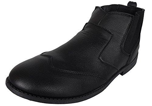 Gensen ,  Herren Chelsea Boots Black (Slip On)