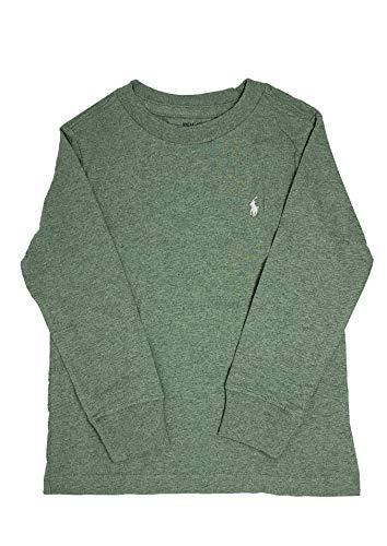Polo Ralph Lauren Boys Crew Neck Long Sleeves Cotton Tee, Green, Size 4/4T