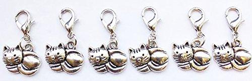 Cozy Cat 6 Pack Handbag Charms Zipper ()