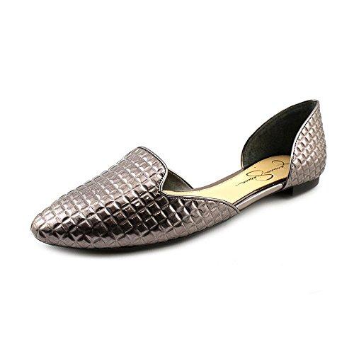 Jessica Simpson Women's Renonna Slip-On Loafer,Gunmetal,8 M US