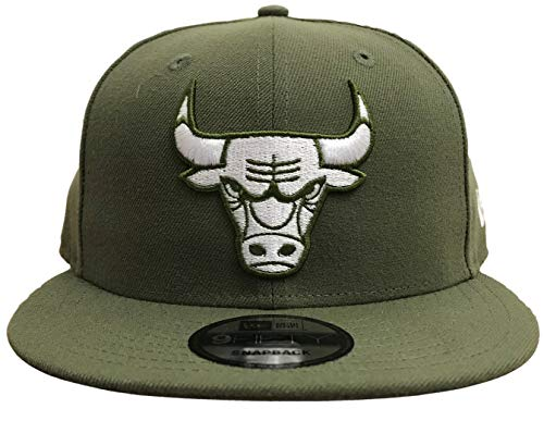 New Era NBA Chicago Bulls Custom Snapback (Olive, OSFA) (Custom New Era Hats)
