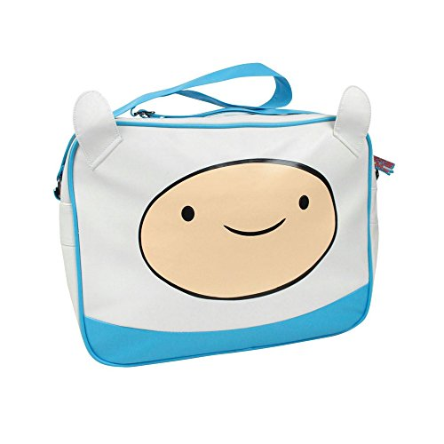 Adventure Time Childrens/Kids Official Finn Messenger Bag Azul/Blanco