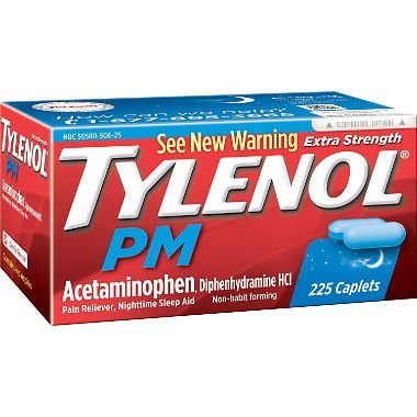 Tylenol Pm Extra Strength Pain Reliever + Sleep Aid, 225-caplets ( 1 Pack ) ()