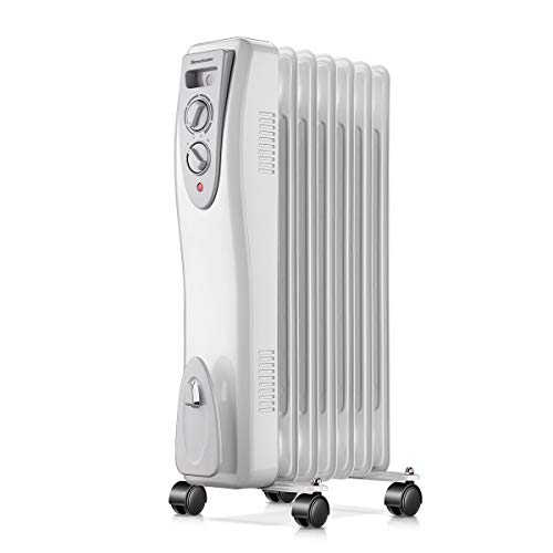 Homeleader Electric Oil Filled Radiator Heater Portable Home Room Heater Adjustable Thermostat 1500W