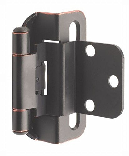 Amerock BP7565ORB 6 Pack 3/8in. Self-Closing Partial Wrap Inset Hinge, Oil Rubbed Bronze 1/2' Oil Rubbed Bronze Door