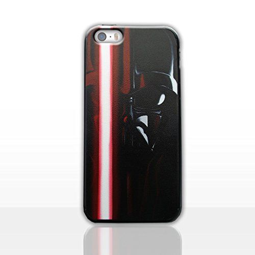 iPhone 5/5s Darth Vader Acrylic Phone Case / Cover for Apple iPhone 5s 5 SE / Screen Protector & Cloth / iCHOOSE / Lightsaber - (Darth Vaders Face)