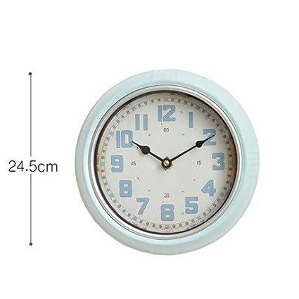 OLQMY-Plancha retro moda país europeo relojes antiguos, comedor sala de estar mudo relojes