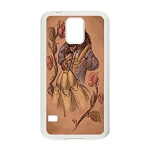 ZK-SXH - Beauty and the Beast Customized Hard Back Case for SamSung Galaxy S5 I9600, Beauty and the Beast Custom Case