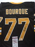 Autographed/Signed Ray Bourque Boston Bruins Black Hockey Jersey JSA COA