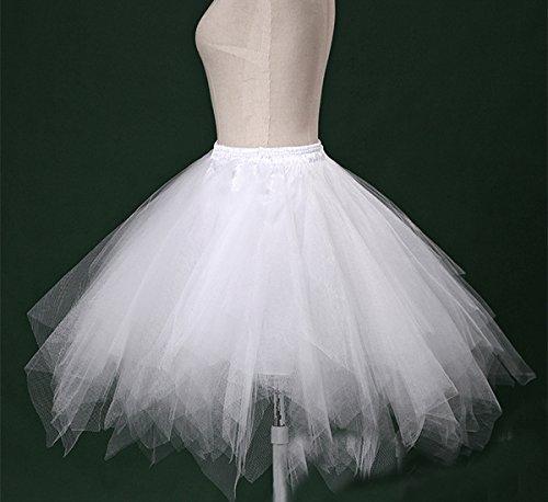 39a85ebfa094 Dressever Vintage 1950s Short Tulle Petticoat Ballet Bubble Tutu White  Small/Medium