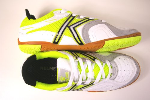 Kelme , Herren Futsalschuhe Weiß white-lime