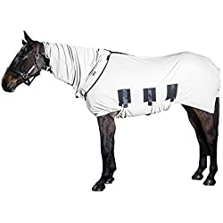 """Snuggy Hoods Bug Body Horse Fly Sheet-Insect & UV Summer Protection(75"""", Beige)"""
