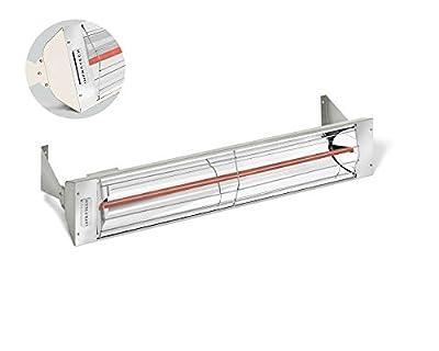 Infratech W1512-White Single Element - 1500 Watt Electric Patio Heater, Choose Finish: White