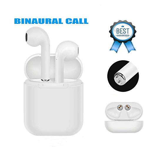 Bluetooth Headset, Wireless Bluetooth Headset, in-Ear Bluetooth Earbuds, Hands-Free Wireless Noise Reduction, Sweat-Proof Sports earplugs Compatible with iphoneX 8 7 ios Samsung s9 s8 Android
